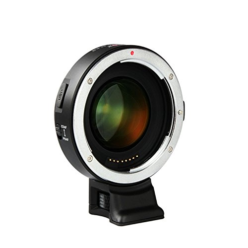 VILTROX EF-E II F Booster Auto-focus Focal Reducer Booster Adapter For Sony E mount APS-C camera & Canon EF mount lenses , with CDAF PDAF Switch USB firmware update by VILTROX