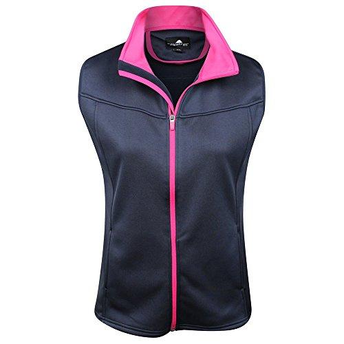 The Weather Apparel Co Poly Flex Golf Vest 2017 Womens Navy/Pink Large by The Weather Apparel Co