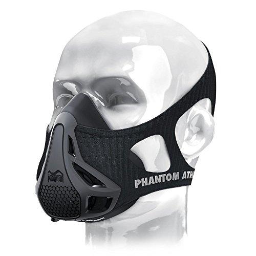 Phantom Training Mask - Mask Carrying Case Set High Altitude Elevation Simulation - for Gym Cardio Fitness Running Endurance and HIIT Training (Black, Large)