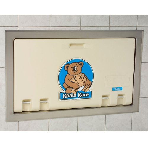 Horizontal Changing Station with Stainless Steel Flange Recess Mount Color: Cream