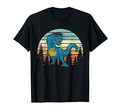 Funny Disc Golf Gift Dinosaur Disc Golf Player Shirt Father