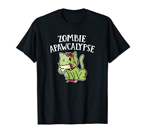 Zombie Apawcalypse Cute Kitten Zombie T Shirt]()