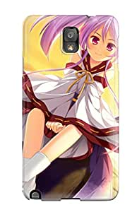 For DanRobertse Galaxy Protective Case, High Quality For Galaxy Note 3 Animal Ears Game Cg Japanese Kimono Otomimi Infinity Purplesky Sunset Tail Twintails Skin Case Cover