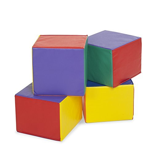 ECR4Kids SoftZone Children's Carry Me Cube (4-Piece), Assorted Colors by ECR4Kids