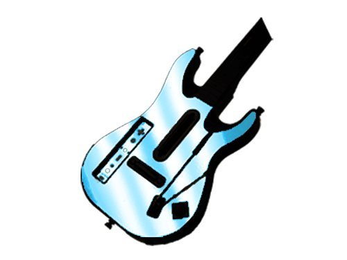 (Guitar Hero 5 (GH5) World Tour for Nintendo Wii Skin - NEW - SKY CHROME MIRROR system skins faceplate decal mod)