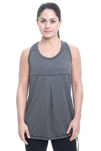 Penn Women's Herringbone Blouson Cold Weather Athletic Performance Outerwear Tank Top - Black Herringbone, Medium ()
