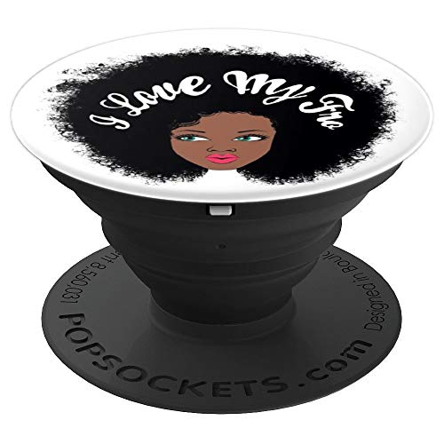 Love Natural (I love My Fro - Natural Hair - PopSockets Grip and Stand for Phones and Tablets)