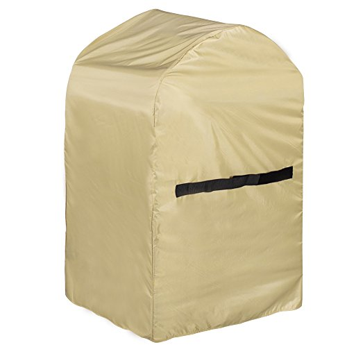 Sundale Outdoor Heavy Duty Rectangle BBQ Grill Cover with PVC Coating Waterproof, fit up to 30L x 24W x 47H inches, Beige
