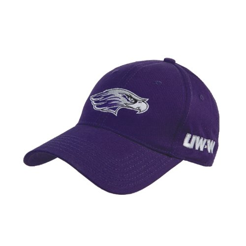 Wisconsin Whitewater Purple Twill Unstructured Low Profile Hat 'Warhawk Head'