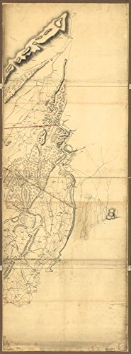 1780 map Operations in America. No. 2|Size 10x24 - Ready to Frame| New Jersey|New York|