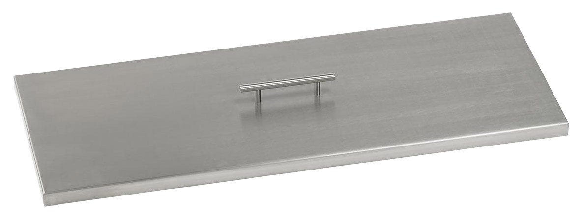 American Fireglass CV-AFPP-30 Stainless Steel Cover For 30 Inch Length x 10 Inch Width Drop-In Fire Pit Pan