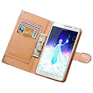 HJZ Samsung Galaxy Note 3 compatible Solid Color PU Leather Full Body Cases , White