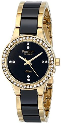 Armitron Women's 75/5210BKGPBK Swarovski Crystal-Accented ()