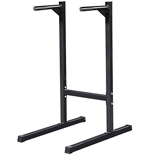 ZENY Heavy Duty Dip Stand Pull Up Paralle Bar Bicep Triceps Training Exercise Free Standing Power Tower Home Gym Dip Station
