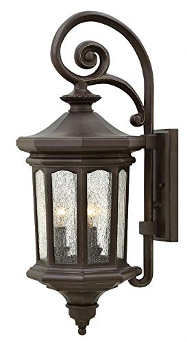 Hinkley 1604OZ-LL Raley Outdoor Wall Sconce, 3-Light LED 15 Total Watts, Oil Rubbed Bronze