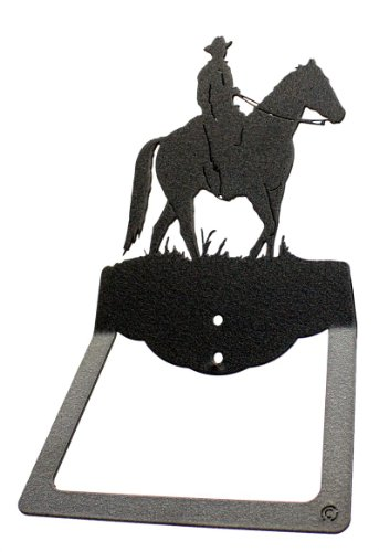Cowboy Male Horseback Rider Towel Ring - Western Bath Rider Towel