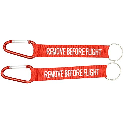 Remove Before Flight Keychain with Carabiner  Cruise Luggage Tag for Women Men   Multipurpose Keychain   Traveler Pilot Cabin Crew Baggage Tag (Pack of 2)