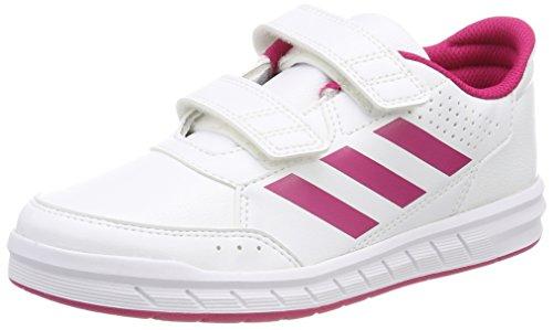 adidas Unisex-Kinder AltaSport Cloudfoam Gymnastikschuhe Elfenbein (Ftwr White/bold Pink/ftwr White)