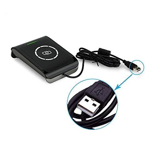 YIQing S9-CU-00-00 NFC RFID Reader Writer for RFID Contactless IC Cards (Support ISO14443 Type A/B + ISO15693) + 2pcs MF1 Cards+ 2pcs I-Code 2 Cards+ SDK