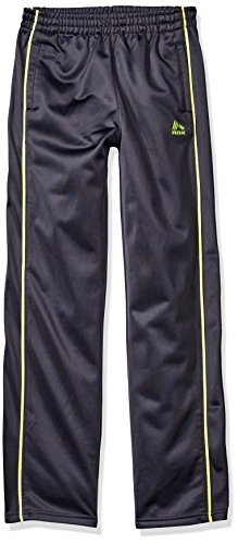 Price comparison product image RBX Big Boys' Trainer Tricot Performance Pant, Nine Iron Neon Yellow Stripes, S (8-10)