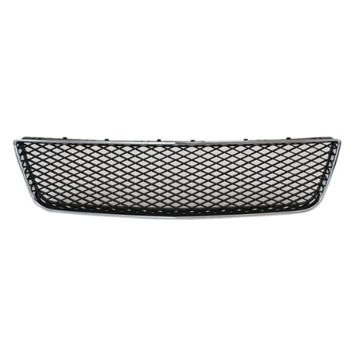 CarPartsDepot, Front Bumper Lower Matte Black Mesh Grille Chrome Trim Frame, 363-15104 GM1036107 10333712