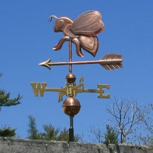 COPPER BEE W/ARROW WEATHERVANE MADE IN USA #320