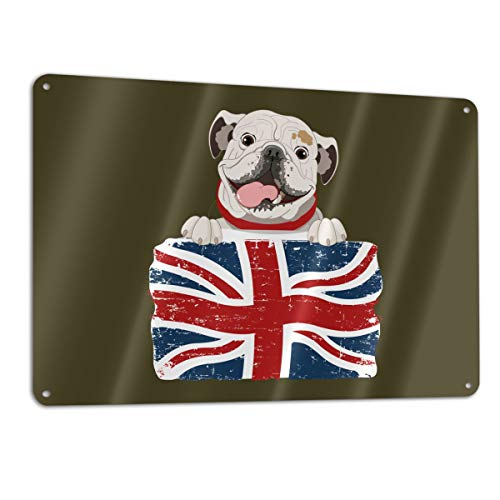 Eleanore Johnson English Bulldog Signage 12¡± X 18¡± Metal Sign Aluminum Safety Signs/Utility Signs/Information Signs and Equipment Warning Signs Indoor/Outdoor