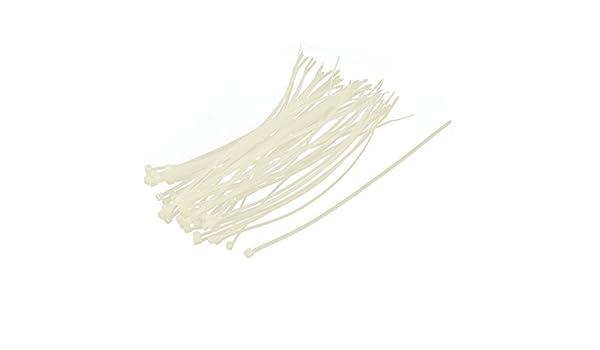 Autobloqueante de nylon con cremallera de ajuste del cable del abrigo del alambre corbata de lazo de 4 mm x 200 mm 50Pcs - - Amazon.com