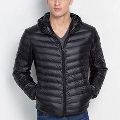Ultra Packable Store Coat Light Weight Puffer Men's Hooded Black CX Down Winter Jacket zqF11wnO