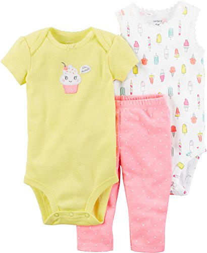 Carter's Baby Girls' 3 Piece Little Character Set 3 Months (Newborn Cupcake Carters Girl)