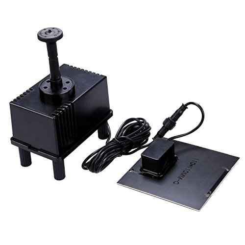 NEWSTYLE 7V 1.5W Solar Power Panel Kit Water Pump with Filter Set for Garden Pond Fountain Pool Submersible Watering Pump