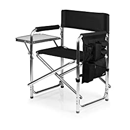 PICNIC TIME ONIVA – a Brand Portable Folding Sports Chair, Black