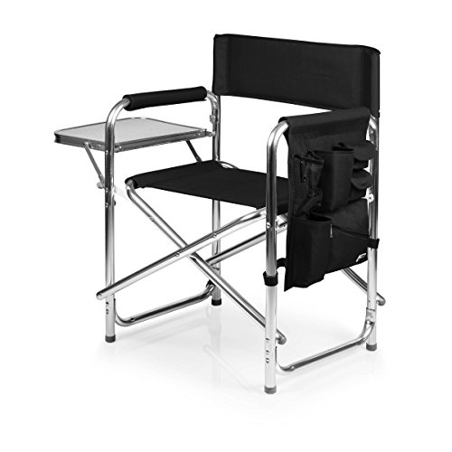 ONIVA - a Picnic Time brand Portable Folding Sports Chair, Black (Outdoor Directors Chairs)