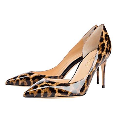 MERUMOTE - Zapatos de vestir de Material Sintético para mujer Leopard-Lackleder