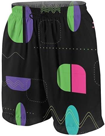 キッズ ビーチパンツ 不規則な幾何柄 サーフパンツ 海パン 水着 海水パンツ ショートパンツ サーフトランクス スポーツパンツ ジュニア 半ズボン ファッション 人気 おしゃれ 子供 青少年 ボーイズ 水陸両用