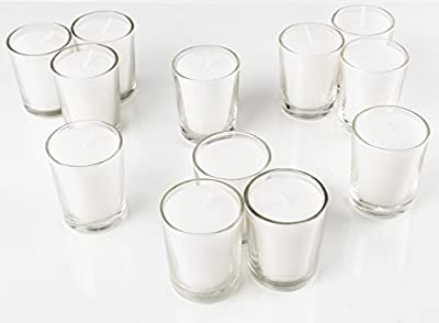 "Super Z Outlet 2.5"" Clear Glass Votive Candle Holders for Candle Making Kit, Tealight Candles Holder Cup Set (72 Pack)"