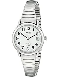 Women's T2H371 Easy Reader Silver-Tone Stainless Steel Expansion Band Watch