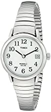 Timex Women's T2H371 Easy Reader Silver-Tone Stainless Steel Expansion Band Watch