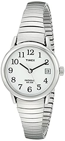 Timex Women's T2H371 Easy Reader Silver-Tone Stainless Steel Expansion Band Watch (Watch With Date)