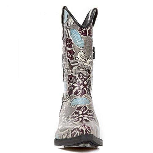 New Rock Handmade M WST053 C4 Weinrot Unisex Stiefel