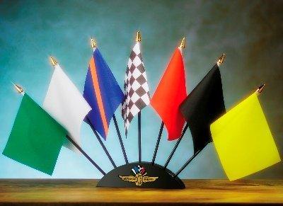 NASCAR Indy Motor Speedway 7 Piece Flag Set