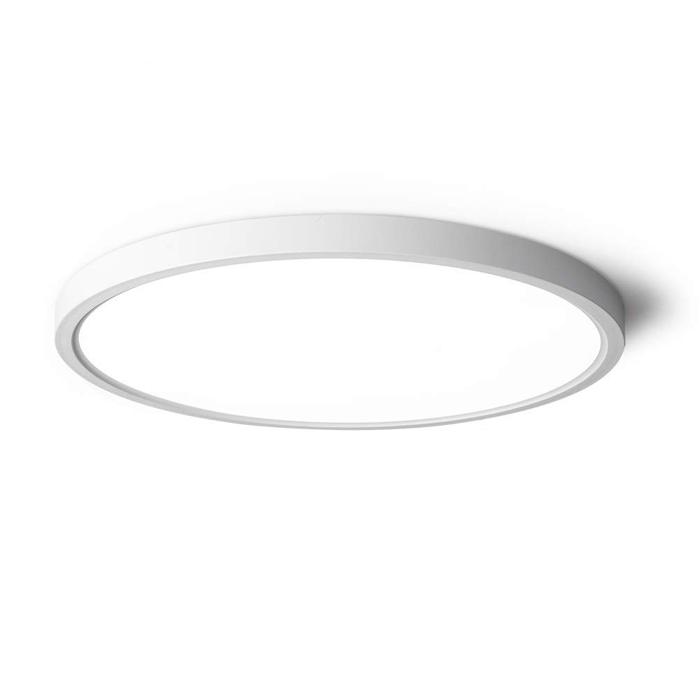 TALOYA LED Ceiling Light,White,0.94 Inch Thin,20w,12 Inch Flat Round Light Fixture,Surface Mount for Bedroom, Living Room, Kitchen, 3 Color Temperatures in One(3000k, 4000k, 6500k )Easy Installation