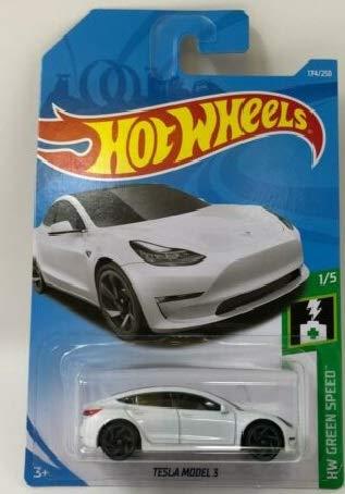 (Hot Wheels 2019 Hw Green Speed 1/5 - Tesla Model 3 (White))