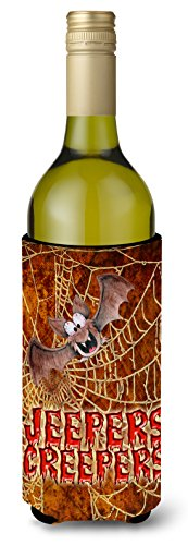 Jeepers Creepers with Bat and Spider web Halloween Wine Bottle Beverage Insulator Beverage Insulator Hugger]()