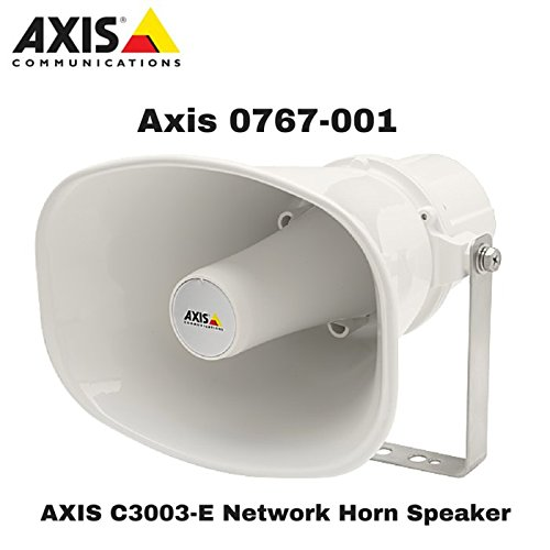 Axis Communications 0767-001 C3003-E Network Horn Speaker, for Pa System, White by Axis Communications