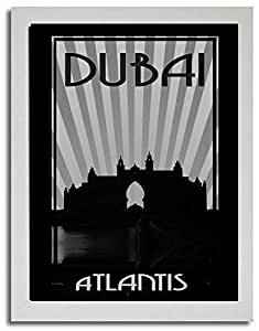 Atlantis - Black And White F03-m (a5) - Framed