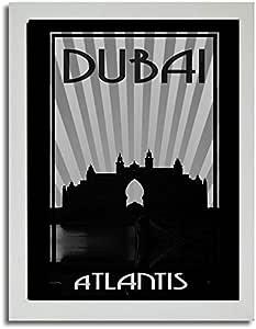 Atlantis - Black And White F03-m (a3) - Framed