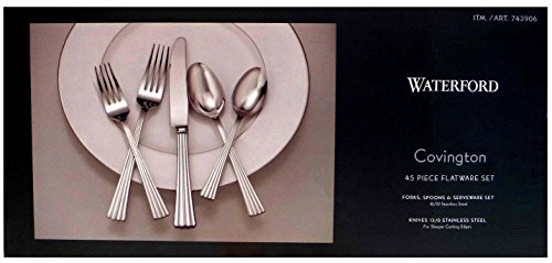 Waterford Covington 45 Piece Flatware Set ~ Serving for 8