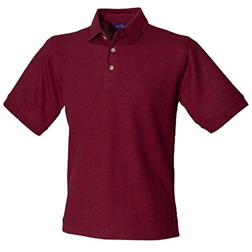 Henbury -  Polo  - Uomo Rosso Borgogna XXXL