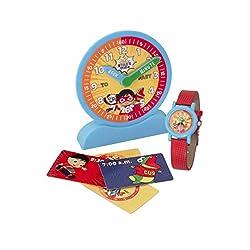 BulbBotz Boys' Quartz Watch with Plastic Strap, red (Model: 2022095)